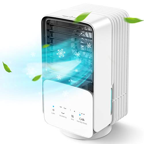 AYOGG Condizionatore Portatile, Raffreddatore d'aria con 3 velocit, 4 in 1 mini condizionatore, umidificatore a nebbia oscillante con 2 regolazioni, Adatto per casa e ufficio stanza