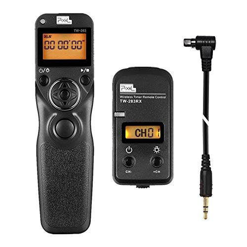 Pixel 2.4GHz Wireless Telecomando Timer Telecomandi TW283-N3 per Canon EOS 5D Mark III, 5DS, 5DS R, 5D Mark II, 5D Mark III,5D MarkIV, 5D, 6D, 7D MarkII, 7D, 50D, 40D, 30D, 20D, 10D, D60, D30, D2000