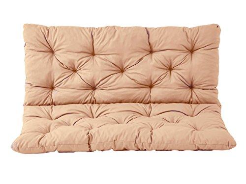 Ambientehome 3er Bank Sitzkissen und Rückenkissen Hanko, beige, ca 150 x 98 x 8 cm, Bankauflage, Polsterauflage