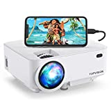 Mini Projector, TOPVISION 4000LUX Outdoor Movie Projector with Synchronize Smart Phone Screen,Full...