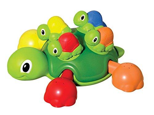 TOMY Schildkrötenfamilie, Bunter Bade- und Lernspaß für Badewanne, Pool und Schwimmbad, Badewannenspielzeug, Wasserspielzeug Badewanne, Babyspielzeug, Geschenke zur Geburt, Ab 12 Monaten