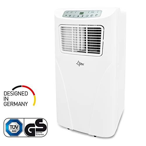 SUNTEC mobiles lokales Klimagerät IMPULS 2.0+ [Für Räume bis 60 m³ (~25 m²), Kühlen + Entfeuchten, 7.000 BTU/h, Energieeffizienzklasse A]