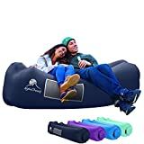 AlphaBeing Inflatable Lounger - Best Air Lounger for Travelling, Camping, Hiking - Ideal Inflatable Couch for Pool and Beach Parties - Perfect Air Chair for Picnics or Festivals