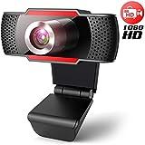 Webcam avec Microphone 1080p, Webcam Full HD USB pour Ordinateur...