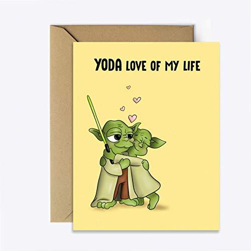Star Wars Anniversary card - Star Wars anniversary gifts for boyfriend - yoda gifts for men - birthday gift for him