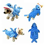 Yoption Puppy Dog Cat Shark Costumes, Funny Pet Halloween Christmas Cosplay Dress, Animal Fleece Hoodie Warm Outfits Clothes