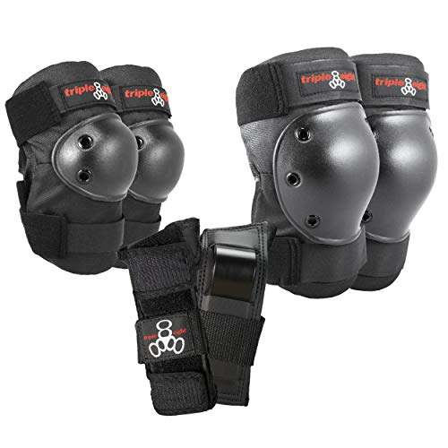 Triple Eight Saver Series Pad Set with Kneesavers, Elbowsavers and Wristsavers, Medium, Black