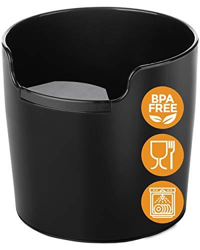 Homeffect ノックボックス ハンドリング向上 - 革新的なバリスタツール - ブラック - プロフェッショナルコ...