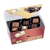 Chevaliers d'Argouges - Assortiment de chocolats noir, lait Bio/Fairtrade - Ballotin dégustation - 184g