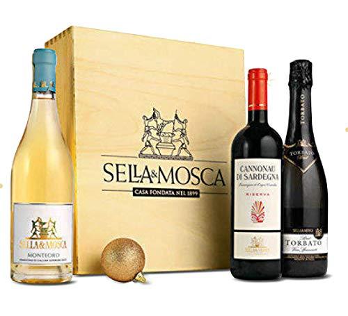 Vini Dalla Sardegna in Elegante Cassetta Originale SELLA & MOSCA  Vini Provenienti dai Territori Regionali: La Sardegna  Cod.357