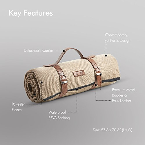 "VonShef Picnic Blanket - Large 58"" x 71"