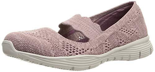 Skechers Seager Pitch out, Zapatos Planos Mary Jane Mujer, Morado Mauve, 41 EU