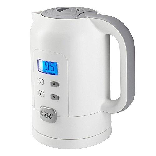Russell Hobbs Precision Control Hervidor de Agua Eléctrico - 2200 W, 1,7 litros, Plástico, Filtro Extraíble, Blanco - 21150-70