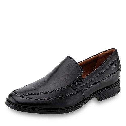 Clarks Tilden Free - Zapatos de cuero para hombre, Negro (Black Leather), 44
