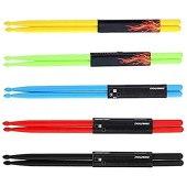 5 Pair 5A Nylon Drumsticks Non-slip Durable Plastic Exercise Drum Sticks (5-Pairs)