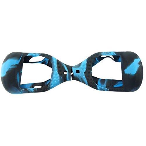 Copertura protettiva, in silicone, per Hoverboard a 2 ruote di 16,5 cm, Black+Green