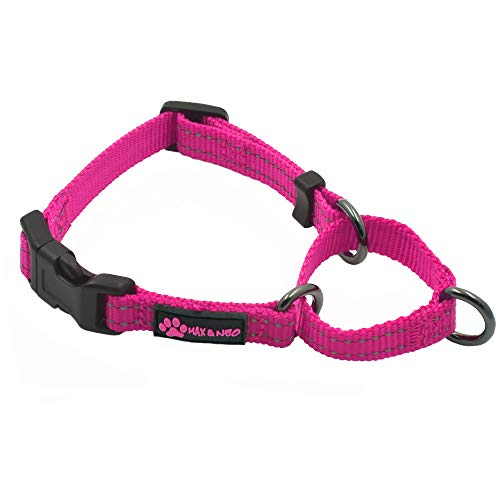 Max and Neo martingale nylon collar - we donate a collar to a rescue dog for each collar soldMax and Neo X SMALL pink NYMC-PNK-XS