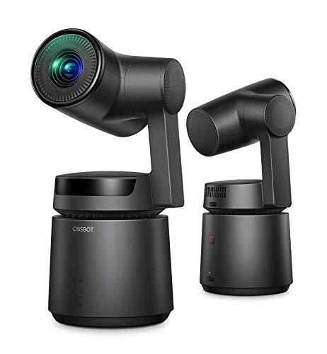 国内正規品 OBSBOT Tail 自動追尾 AIカメラ 自撮りVlog 1850mAhバッテリー内蔵 アクションカメラ 4K 高画質 三軸ジンバル内蔵 60fps ジェスチャーで操作可能 充電電源アダプター付属 日本国内専用 (Black)