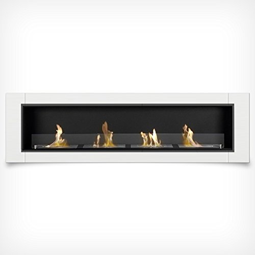 Luxury Gel Fireplace 4 Burners 162 cm Wall-mounted Fireplace Bio Ethanol Stainless Steel