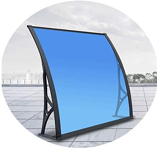 CXF marquesina Puerta Exterior, Azul de la Puerta del pabellón Opaco Corrugado Toldo Refugio Sombra Techo Delantero Porche Trasero al Aire Libre Patio (Size : 60x80cm)