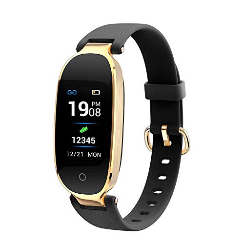 Buxaz Fit 1 Smart Fitness Band, Sports Activity Tracker, Step and Calorie Counter Watch with Pedometer, Heart Rate Monitor for Women and Kids(Black)