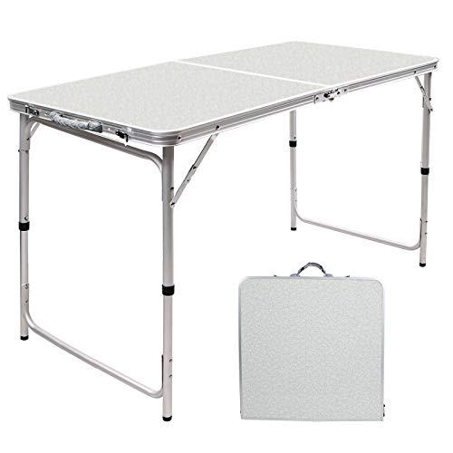 REDCAMPテーブル 折りたたみ アウトドアキャンプ 幅60/90/120cm高さ調節持ち運びアルミコンパクト 軽量 ピクニックガーデン室内 屋外
