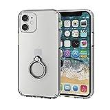 エレコム iPhone 12 mini ケース ハイブリッド 耐衝撃 リング付 シルバー PM-A20AHVCRSV