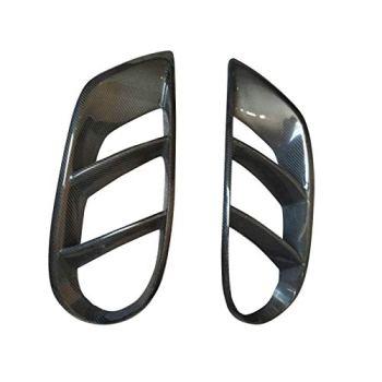 SHENYUAN-Bumper accessories Carbon Fiber Front Bumper Air Vent Cover Trim Mesh Grill Frame Fit for Mercedes Benz C Class W205 C43 AMG C180 C200 2015-2019 (Color : Carbon Fiber)
