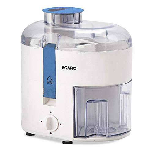 AGARO Velocity 350-Watt Juicer Extractor with Centrifugal Technology (White & Blue)