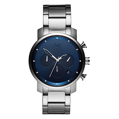 MVMT Herren Chronograph Quarz Armbanduhr mit Edelstahlarmband D-MC02-SBLU