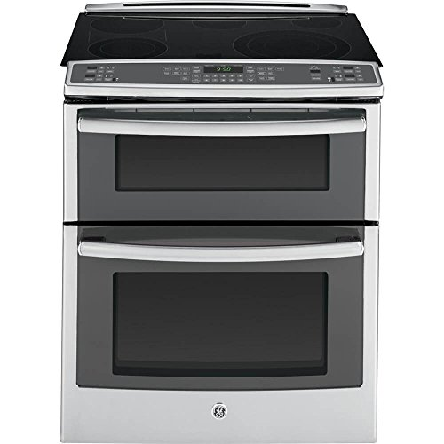 GE PS950SFSS 30' 6.6 cu. ft. Capacity Slide-In Double Oven...
