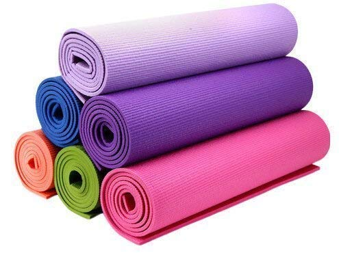 Fitness Mantra Yoga Mat High Density, Anti-Slip Yoga mat for Gym Workout and Flooring Exercise Long Size. 4 mm Yoga Mat for Men & Women Fitness [Multicolor][1 Pcs.]
