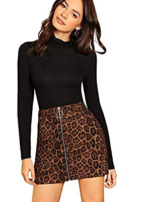Waist Size:(XS)-25.2 inch; (S)-26.8 inch; (M)-28.3 inch; (L)-29.9 inch Mid Waist, Above Knee, Leopard Print, Zipper Pair it with your favorite tops and heels for the perfect look Suitable for summer, casual, night wear, daily wear, beach, traval, par...
