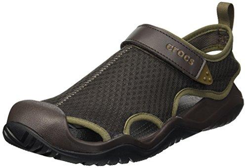 CROCS Swiftwater Mesh Deck Sandal M, Zuecos Hombre, Marrón (Espresso 206b), 43/44 EU