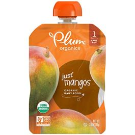 Plum Organics Baby Just Fruit and Veggies, Pack of 12 Pouches