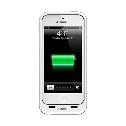 mophie 2106 Juice Pack Air External Rechargeable Cell Phone Battery Case for iPhone 5/5s/SE (1,700 mAh) - White