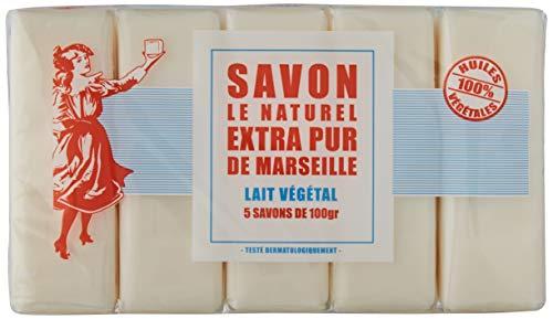 Savon Le Naturel - Vértiable Savon de Marseille Extra Pur au Lait 5 x 100g