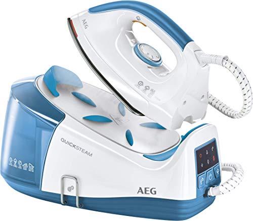 AEG caldaia a vapore quicksteam DBS 33501(2350Watt equivalenti 4,5bar, vapore fino a 115g, spegnimento automatico), colore: blu/bianco Ferro da stiro a caldaia QuickSteam blu