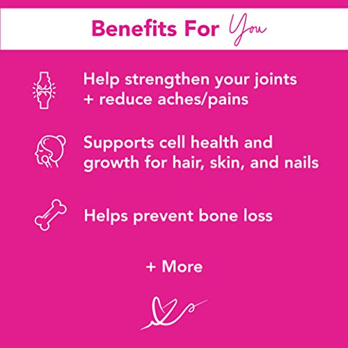 Pink Stork Total Collagen Powder Protein Sticks: 48 Single Serving Packets, Peach Berry Flavor, Hydrolyzed Bovine Collagen Peptides Drink Powder, Healthy Hair Skin and Nails + Weight Loss, Women-Owned 3