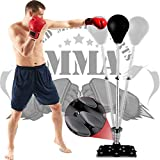 Reflex Bag Speed Punching Bag with Adjustable Height Free Standing Punching Bag Strong Durable...