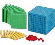 WISSNER Dienes-Material Zehner-Systemsatz, 121 Bunte Dezimal-Würfel RE-Wood® - Grundsortiment Mathematik Rechnen Lernen Kinder