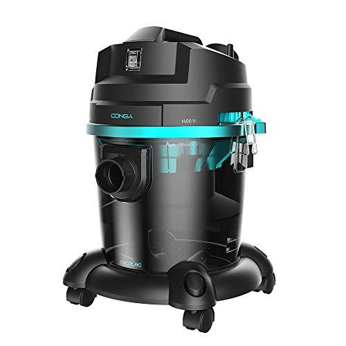 Cecotec Aspirador de sólidos y líquidos Conga Popstar 2000 Wet&Dry. Potencia 1400 W, Aspira Todo Tipo de Suciedad, Función Sopladora, Radio de acción 8m, 20L