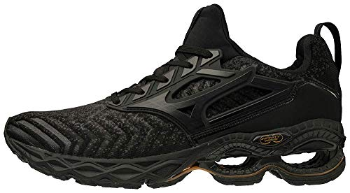 Mizuno Men's Creation WAVEKNIT 2 Running Shoe, Dark Shadow - Black, 12 D