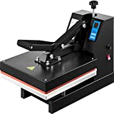 VEVOR Heat Press 15X15 Inch Heat Press Machine Industrial Quality Power T Shirt Heat Press Sublimation Machine Clamshell Heat Press Machine for T Shirts