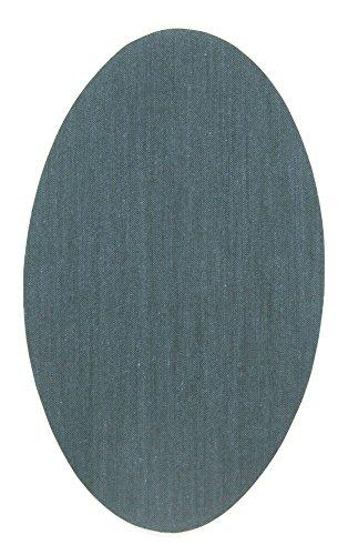 Haberdashery Online 6 Rodilleras Color Gris Oscuro termoadhesivas de Plancha. Coderas para Proteger tu Ropa y reparación de Pantalones, Chaquetas, Jerseys, Camisas. 16 x 10 cm. RP10