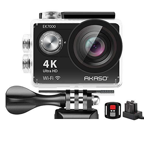 AKASO EK7000 4K WiFi Sports Action Camera Ultra HD Waterproof DV Camcorder 12MP 170 Degree Wide...