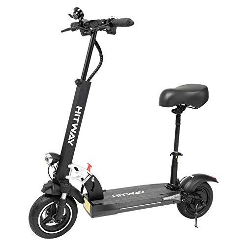 Trottinette électrique HITWAY, e-Scooter avec siège (800W, 43km/h, Max. 40 km, Scooter électrique Pliable avec écran LCD Batterie Li-ION 10A) HW01