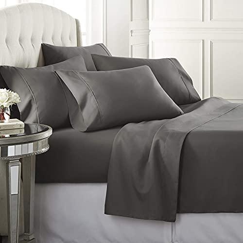 Danjor LinensCalifornia KingSize Bed Sheets Set - 1800 Series 6 Piece Bedding Sheet & Pillo…