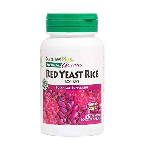 NaturesPlus Herbal Actives Red Yeast Rice, Extended Release - 600mg, 60 Vegan Tablets - Herbal Supplement - Cholesterol Support - Vegetarian, Gluten-Free - 60 Servings