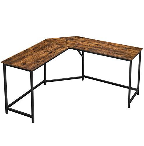 VASAGLE L-Shaped Computer Desk, 58-Inch Corner Desk for Study, Home...